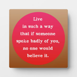 Hot Pink and Brown Motivational Typography Quote Plaque
