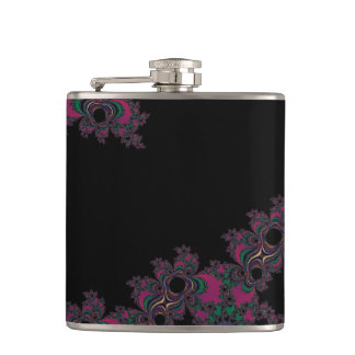 Hot Pink and Cool Purple Personalized Fractal Flask