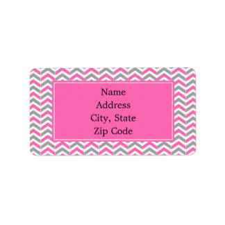 Hot Pink and Gray Chevron Pattern