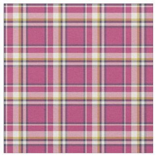 Hot Pink and Navy Blue Fashion Plaid Fabric