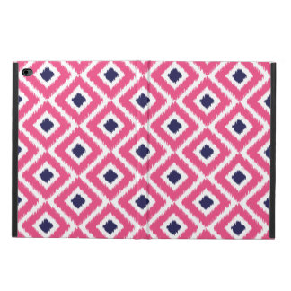 Hot Pink and Navy Ikat Diamonds Powis iPad Air 2 Case