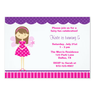 Hot Pink and Purple Fairy Invitation