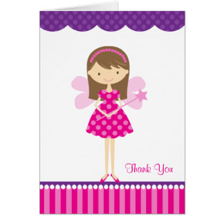 Hot Pink and Purple Fairy Note Card