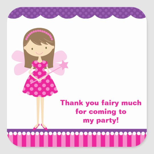 Hot Pink and Purple Fairy Stickers