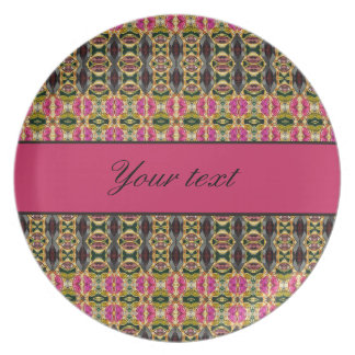 Hot Pink and Red Jewels Dinner Plate