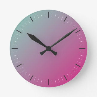 HOT PINK and TEAL | abstract Wall Clock