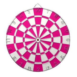 Hot Pink And White Dartboard