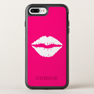 Hot Pink and White Lipstick OtterBox Symmetry iPhone 8 Plus/7 Plus Case