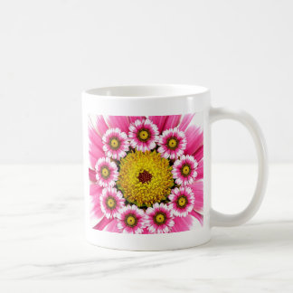 Hot Pink and Yellow Daisy Flowers Coffee Mug