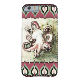Hot Pink & Aqua Octopus Love 'Ivy' iPhone 6 case Barely There iPhone 6 Case