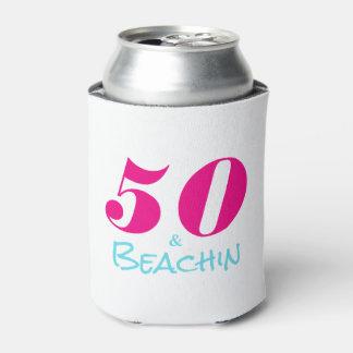 Hot Pink Aquamarine 50 & Beachin Can Cooler