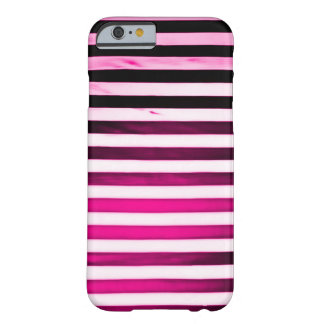 Hot Pink Art Nouveau Grunge Stripes Barely There iPhone 6 Case