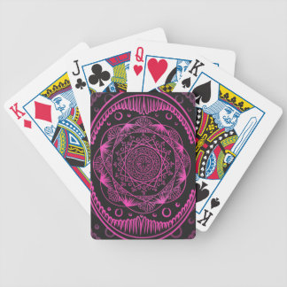 Hot Pink, Awakening zen pattern, healing, chakra Bicycle Playing Cards
