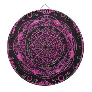Hot Pink, Awakening zen pattern, healing, chakra Dartboard