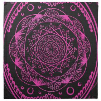 Hot Pink, Awakening zen pattern, healing, chakra Napkin