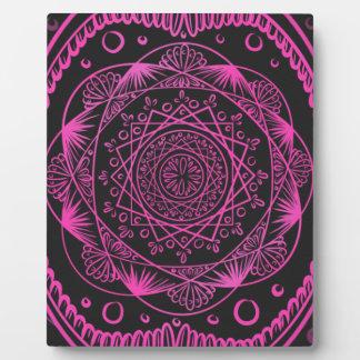 Hot Pink, Awakening zen pattern, healing, chakra Plaque