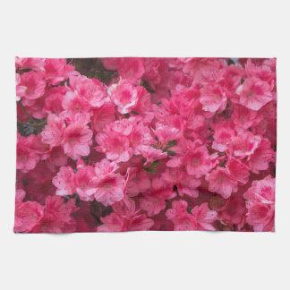 Hot Pink Azalea Blossoms Towels