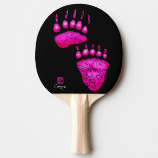Hot Pink Bear Paws - Ping Pong Paddle