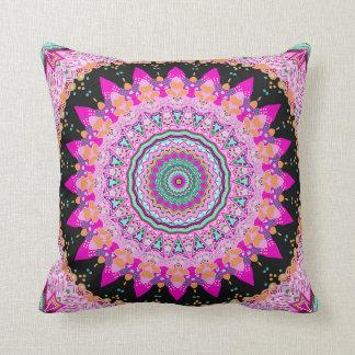 Hot Pink Beauty Mandala Pillow