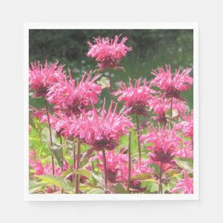 Hot Pink Bee Balm Napkin