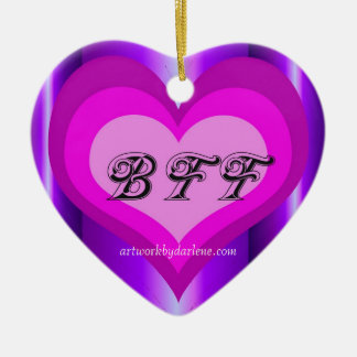 hot pink BFF Ceramic Ornament