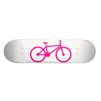 Hot Pink Bicycle; bike Skate Board