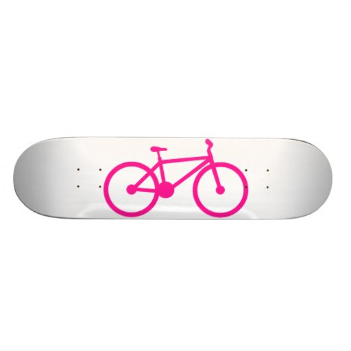 Hot Pink Bicycle; bike Skate Board Deck