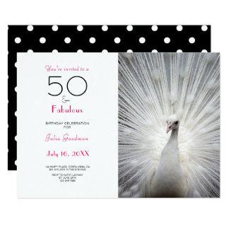 Hot Pink Black 50 and Fabulous Birthday Invitation