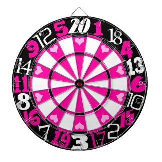 Hot Pink & Black Dartboard