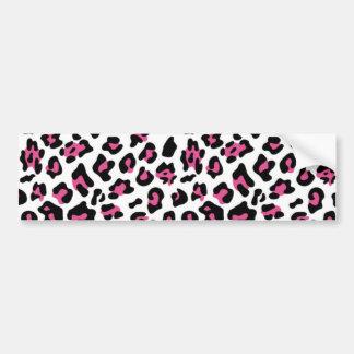 Hot Pink Black Leopard Animal Print Pattern Bumper Sticker