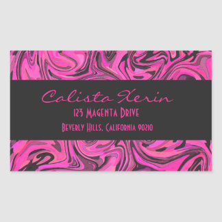 Hot Pink & Black Liquid Swirlz Sticker