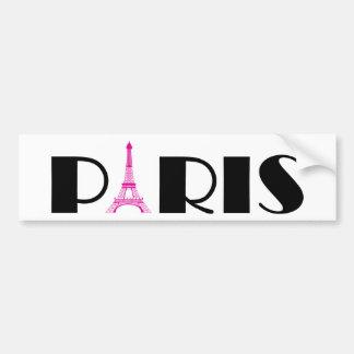 Hot Pink Black Paris Bumper Sticker
