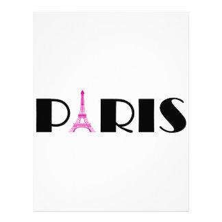 Hot Pink Black Paris Letterhead Design
