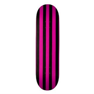 Hot Pink & Black Stripe Skateboard Deck