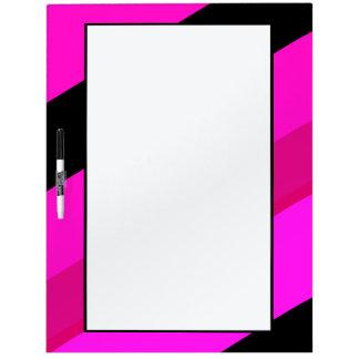 Hot Pink Black Stripes Dry Erase Board