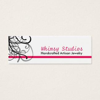 Hot Pink Black Swirl Profile Cards