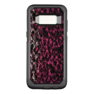 Hot Pink Black Tiled OtterBox Commuter Samsung Galaxy S8 Case