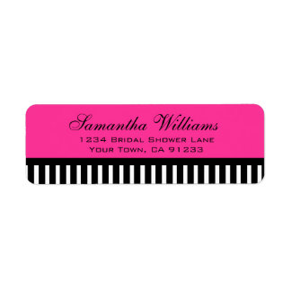 Hot Pink Black & White Stripes