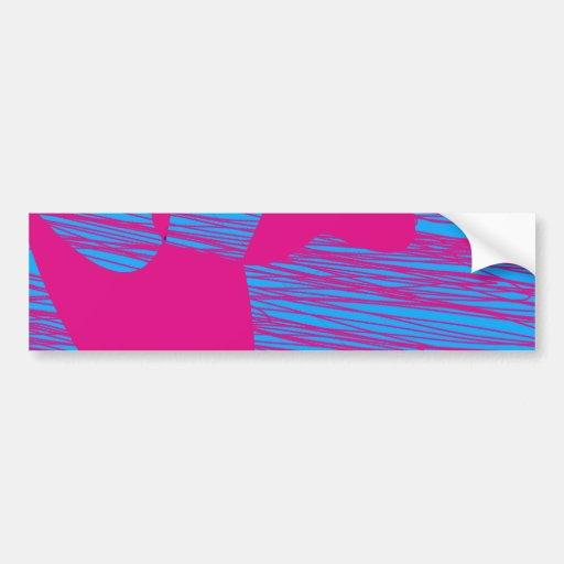 Hot Pink Blob Fuchsia and Teal Abstract Art Bumper Sticker