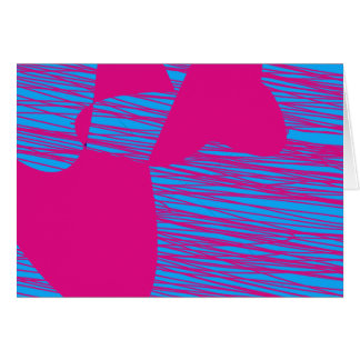 Hot Pink Blob Fuchsia and Teal Abstract Art Card
