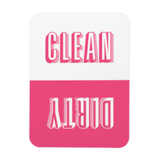 Hot Pink Block Modern Typography Dishwasher Magnet