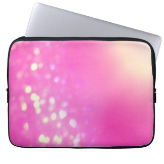 Hot Pink Bokeh Laptop Sleeve