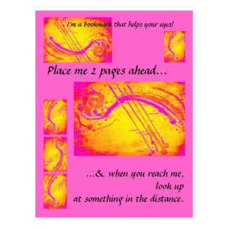 Hot pink- bookmark/ postcard