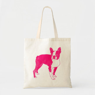 Hot Pink Boston Tote Bags