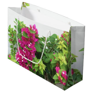 Hot Pink Bougainvillea Large Gift Bag
