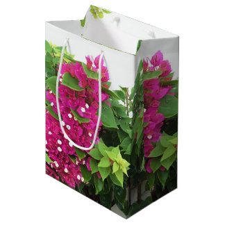 Hot Pink Bougainvillea Medium Gift Bag