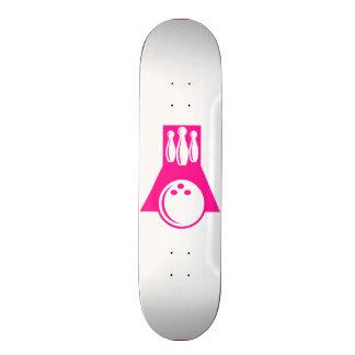 Hot Pink Bowling Custom Skate Board