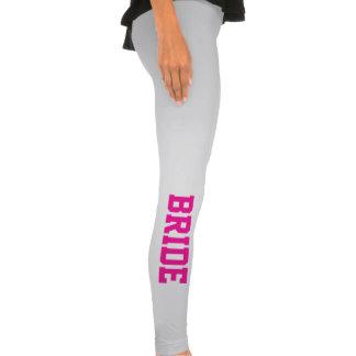 Hot Pink Bride Leggings Stretch Pants