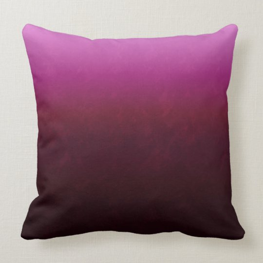 Hot Pink Burgundy Ombre Throw Pillow