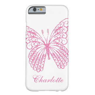 Hot Pink Butterfly iPhone 6 Case Barely There iPhone 6 Case